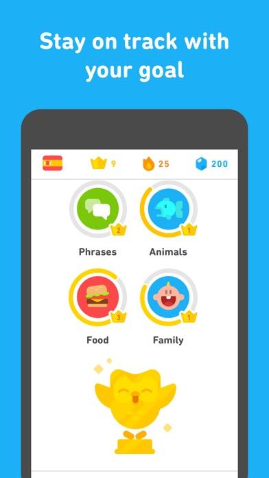 Duolingo review screenshots