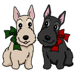 Cute Scottish Terrier Dog Icon