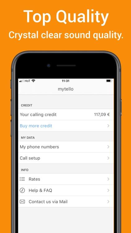 mytello - cheap calls abroad screenshot-3