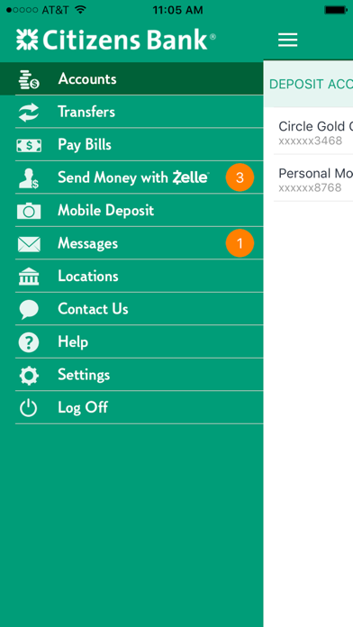 Citizens Bank Mobile Banking review screenshots