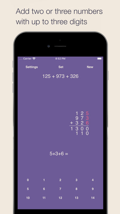 Partial Sums Addition Screenshots