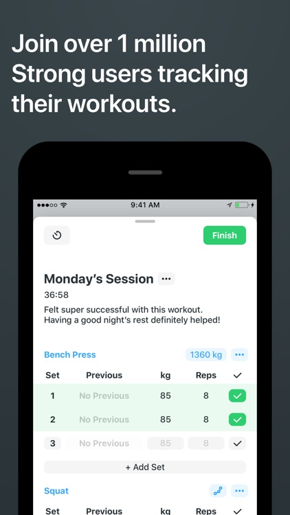 Strong Workout Tracker Gym Log