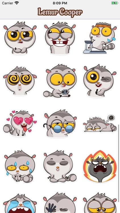 Lemur Cooper Stickers