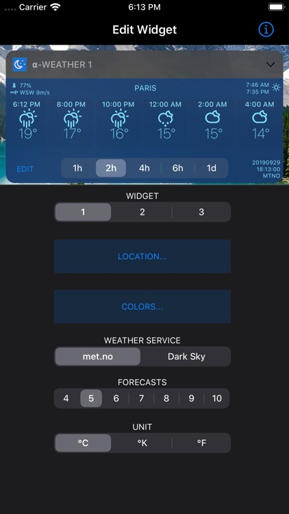 Alpha Weather Today Widgets