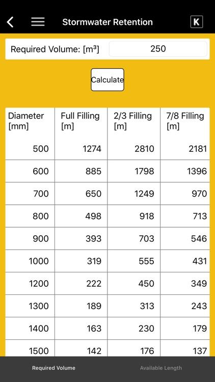 KRAH Pipe Calculation screenshot-3