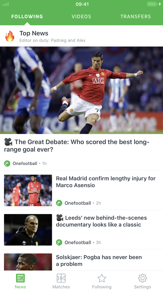 Onefootball - Soccer Scores App for iPhone - Free Download
