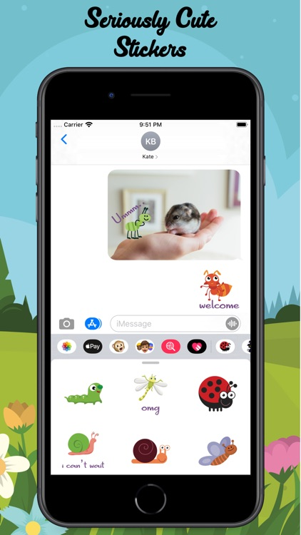 Cute Bugs Stickers screenshot-5