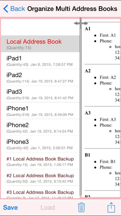 Lite Multi Address Books screenshot-3