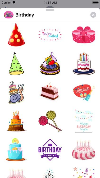 100+ Happy Birthday Stickers screenshot-5