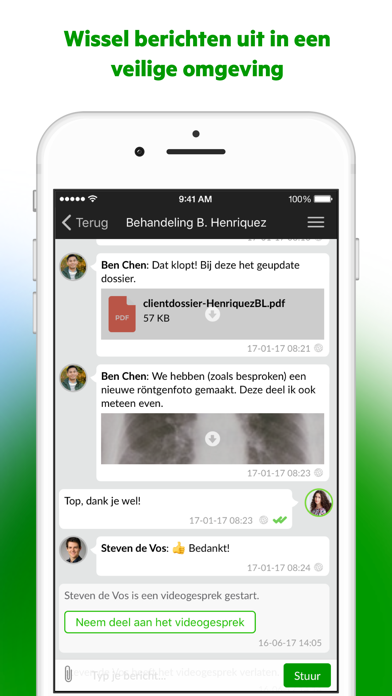 Zorg Messenger screenshot two