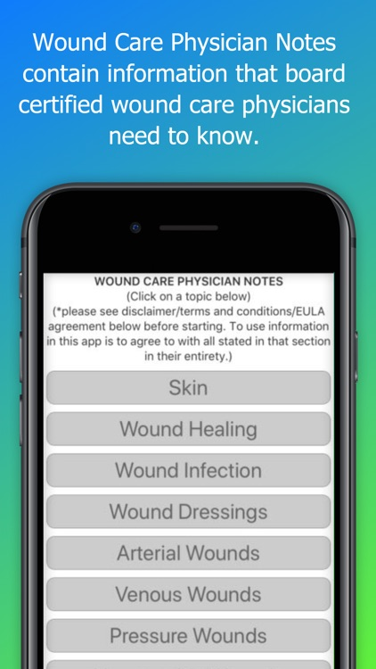 Wound Care Physician Notes