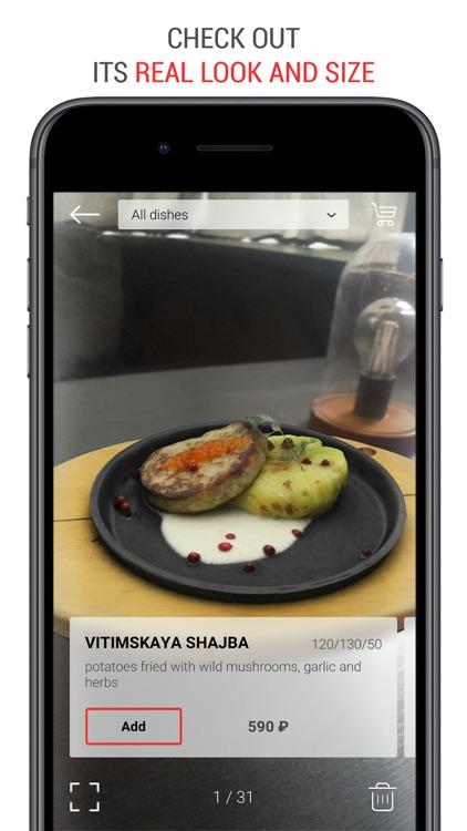 Menu AR Augmented Reality Food
