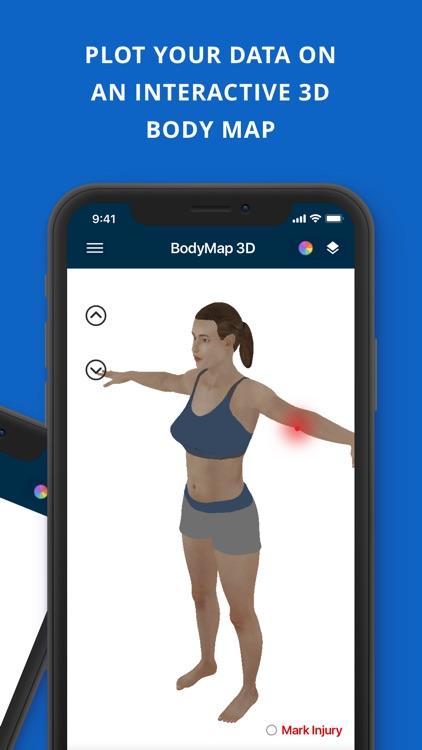 BodyMap3D Health Tracker