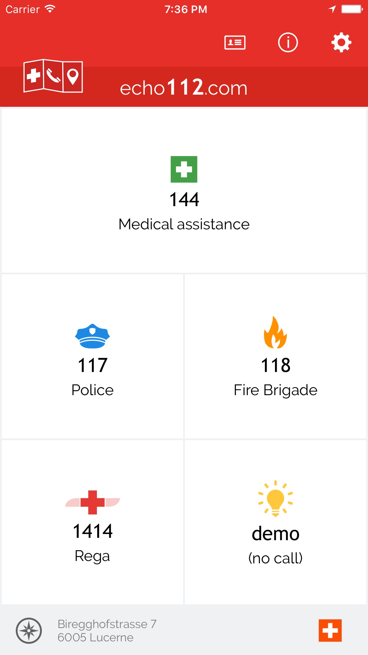 Echo112 – Pocket Lifesaver Screenshot