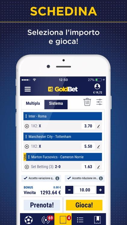 GoldBet Scommesse Sportive screenshot-4