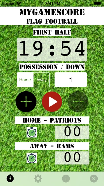 MyGameScore Flag Football screenshot-3