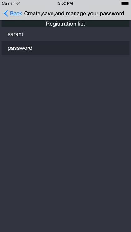 password create,save,manage screenshot-3