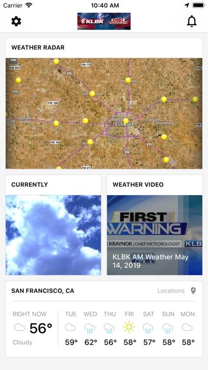 KLBK First Warning Weather