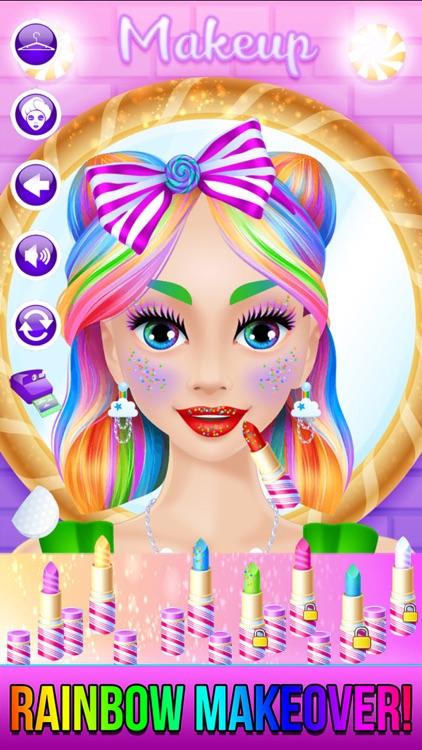 Rainbow Unicorn Candy Salon screenshot-3