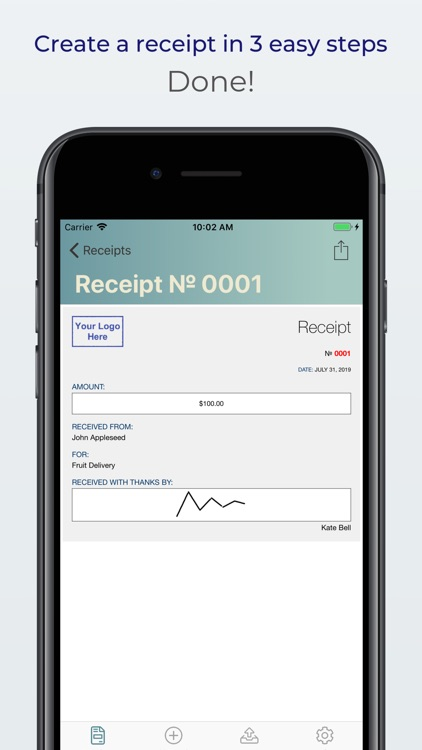 Receipts: create, print & mail screenshot-3