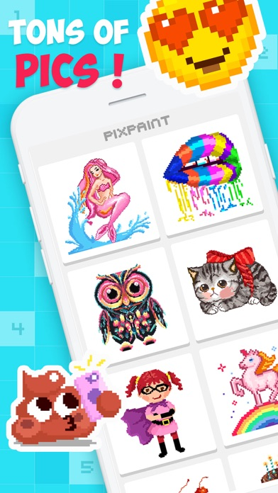 Screenshot for PixPaint - Number Coloring in Belgium App Store