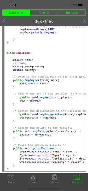 Jedona - Compiler for Java on the App Store
