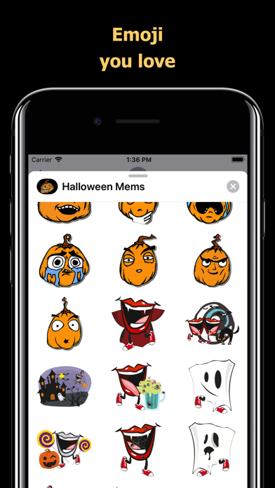 Halloween Mem emoji - pumpkin screenshot 2