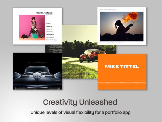 Creative iPad Photo Portfolio screenshot one