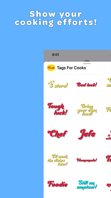 Screenshot #3 for Tags for Cooks Stickers