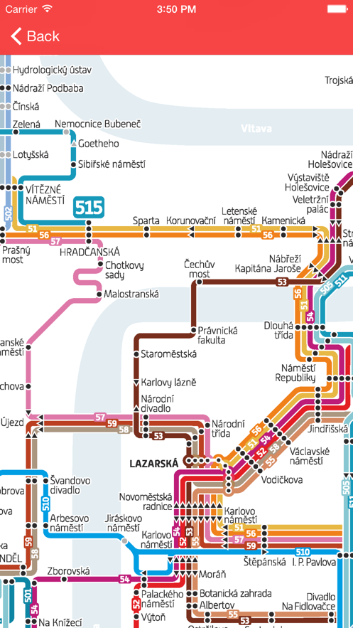 Prague Public Transport Pro App 截图