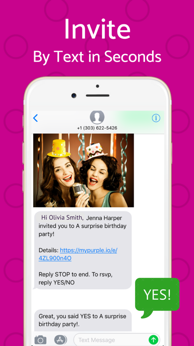 Party Invitations, RSVP, Event Photos - PurpleSlate - Personal event planning made easy and private screenshot
