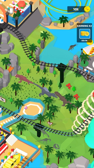 Idle Dino Theme Park screenshot 2