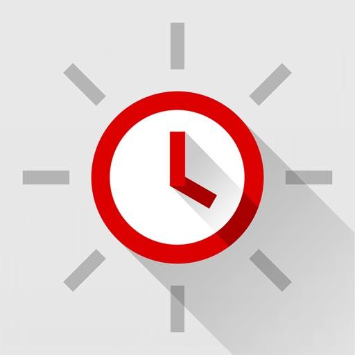 Red Clock - Weather & Alarm icon