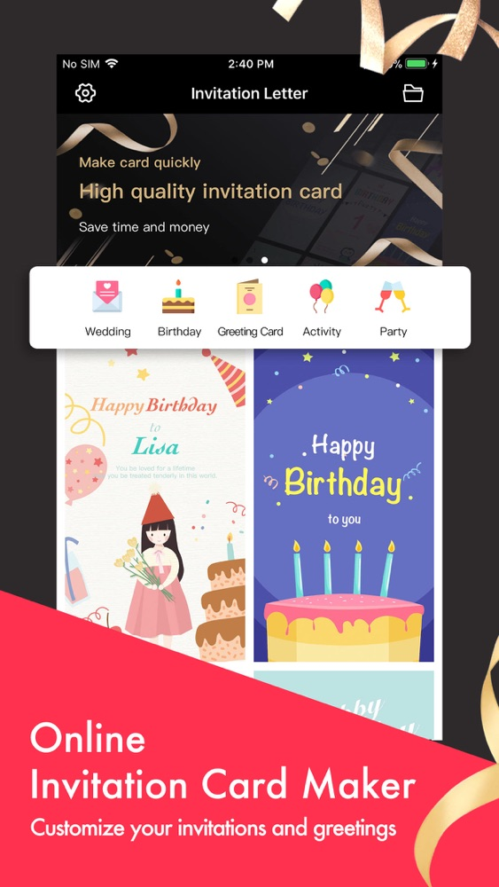 Party Invitation Cards Maker App For Iphone Free Download
