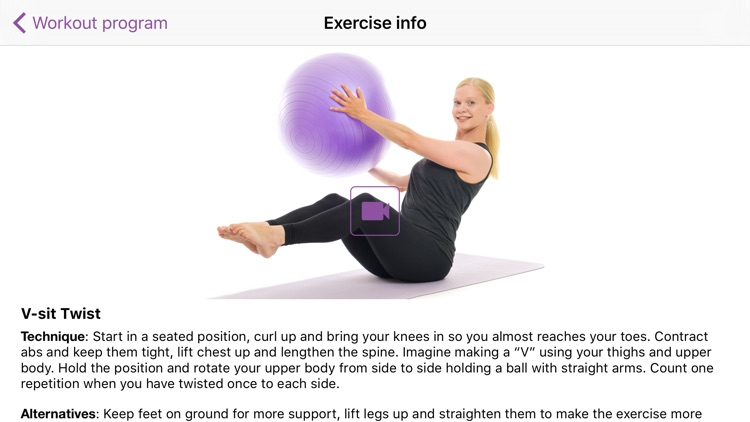 Training ball & exercise band screenshot-4