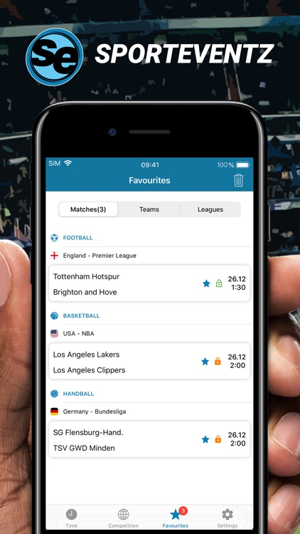 SportEventz - Live sport on TV screenshot-0