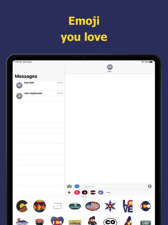 Сolorado emojis - USA stickers screenshot 7