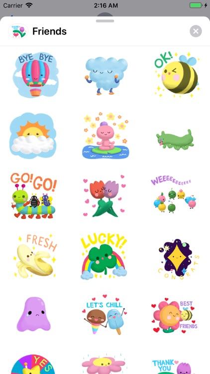 Nature Friends Emoji Sticker