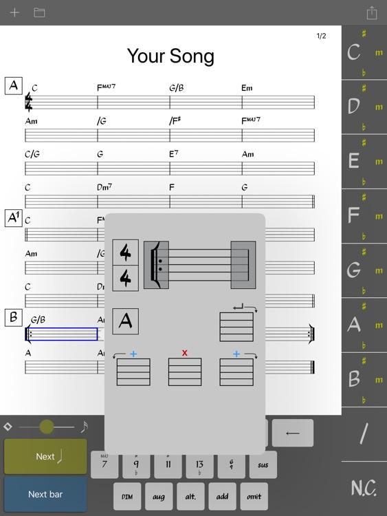 Chordsheet Maker - Lead sheet screenshot-3