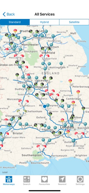 M6 Services Map Motorway Services GB on the App Store