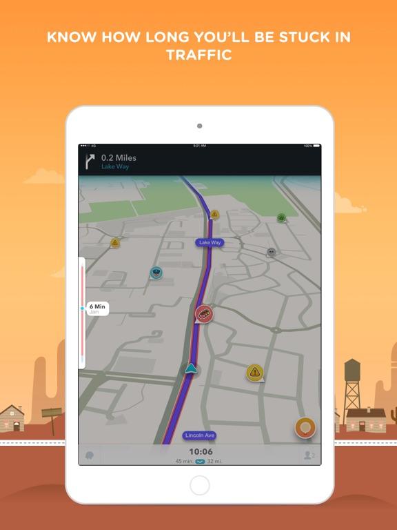 Waze Navigation & Live Traffic-ipad-4