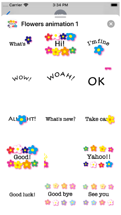 Flowers Animation 1 Stickers Screenshot