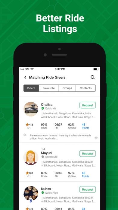 Quick Ride-Carpool, Bike pool screenshot four