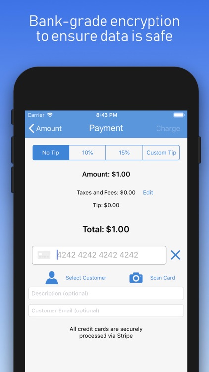 Charge - Stripe Card Payments screenshot-3
