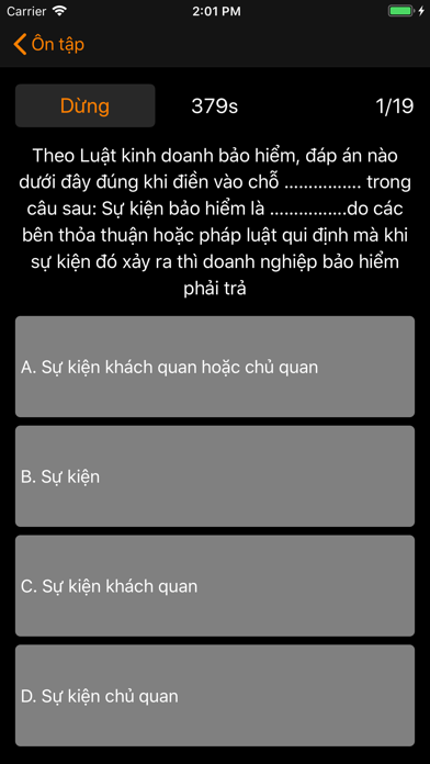 Ôn thi chứng chỉ BHNT screenshot 4