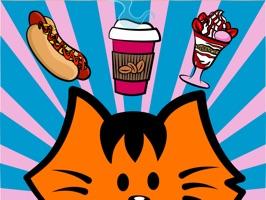Kikimoji Food - Cat Stickers