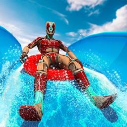 Superhero Water Park Slide '20