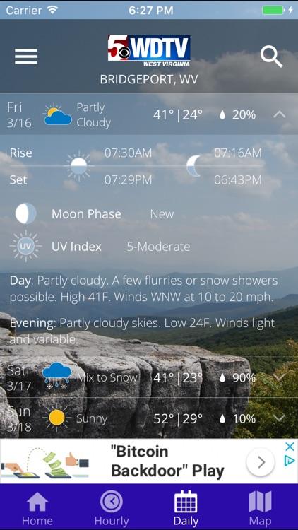 WDTV 5 First Alert Weather screenshot-3