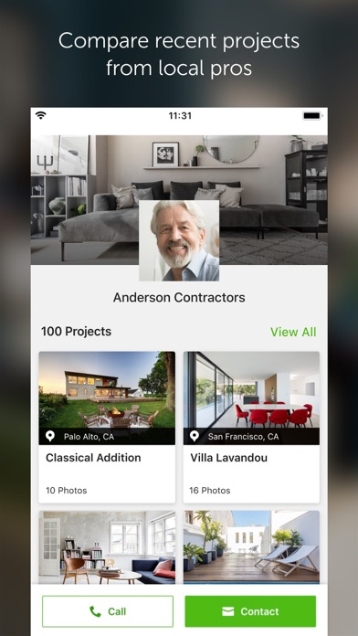 Houzz review screenshots