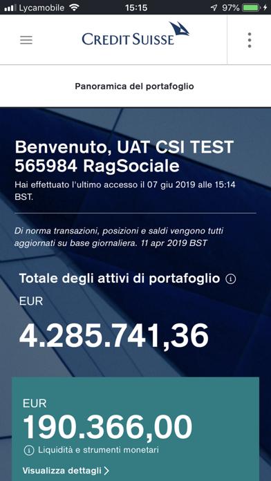 Screenshot of Credit Suisse Digital1